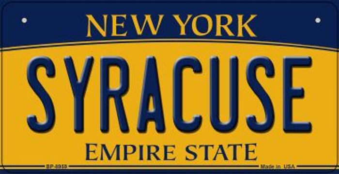 Syracuse New York Novelty Metal Bicycle Plate BP-8959
