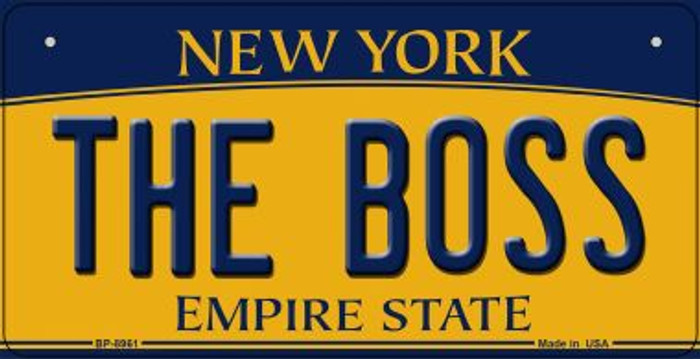 The Boss New York Novelty Metal Bicycle Plate BP-8961