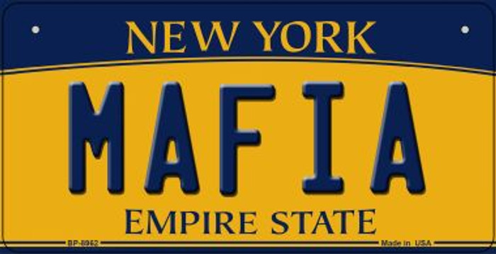 Mafia New York Novelty Metal Bicycle Plate BP-8962