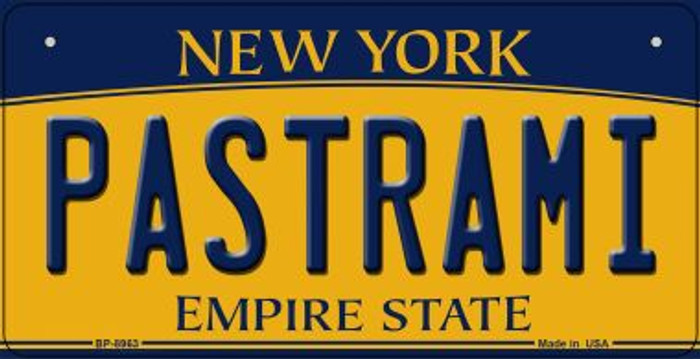 Pastrami New York Novelty Metal Bicycle Plate BP-8963