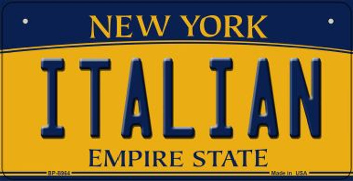 Italian New York Novelty Metal Bicycle Plate BP-8964