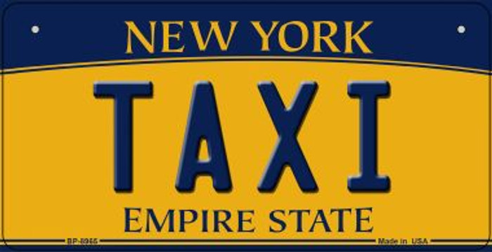 Taxi New York Novelty Metal Bicycle Plate BP-8965