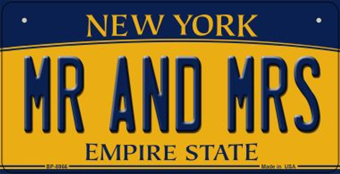 Mr and Mrs New York Novelty Metal Bicycle Plate BP-8966