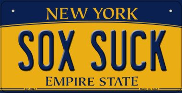 Sox Suck New York Novelty Metal Bicycle Plate BP-8967