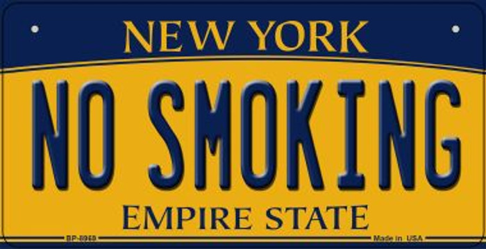 No Smoking New York Novelty Metal Bicycle Plate BP-8969