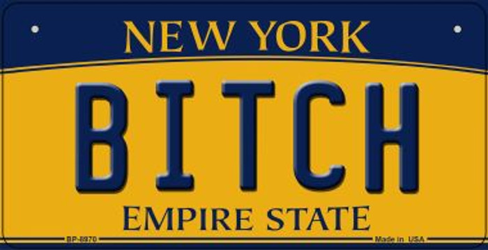 Bitch New York Novelty Metal Bicycle Plate BP-8970