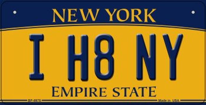 I H8 NY New York Novelty Metal Bicycle Plate BP-8975