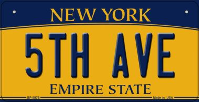 5th Ave New York Novelty Metal Bicycle Plate BP-8979