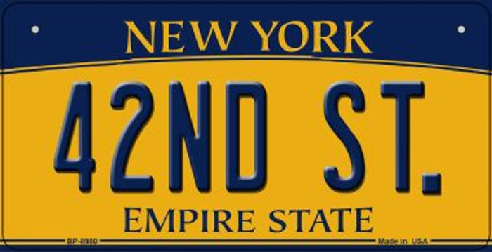 42nd St New York Novelty Metal Bicycle Plate BP-8980