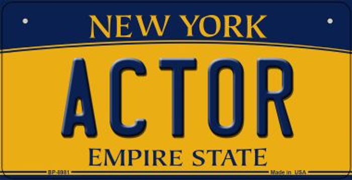 Actor New York Novelty Metal Bicycle Plate BP-8981