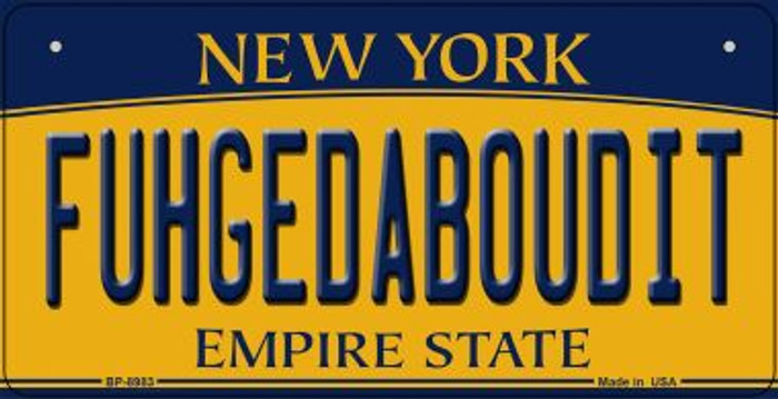 Fuhgedaboudit New York Novelty Metal Bicycle Plate BP-8983