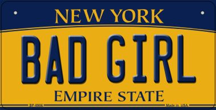 Bad Girl New York Novelty Metal Bicycle Plate BP-8986