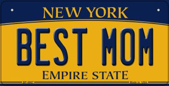Best Mom New York Novelty Metal Bicycle Plate BP-8987