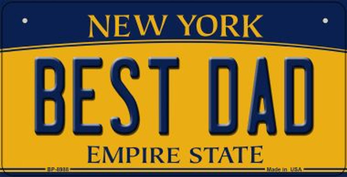 Best Dad New York Novelty Metal Bicycle Plate BP-8988