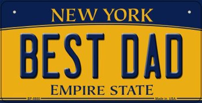 Best Dad New York Novelty Metal Bicycle Plate BP-8988