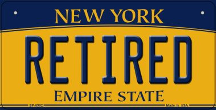Retired New York Novelty Metal Bicycle Plate BP-8992