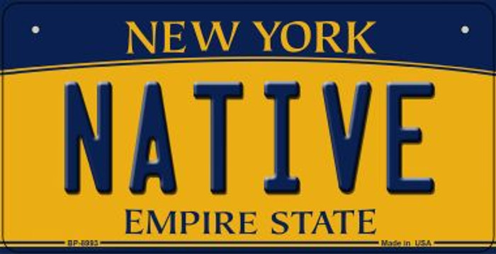 Native New York Novelty Metal Bicycle Plate BP-8993