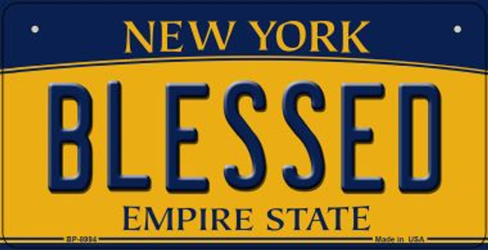 Blessed New York Novelty Metal Bicycle Plate BP-8994