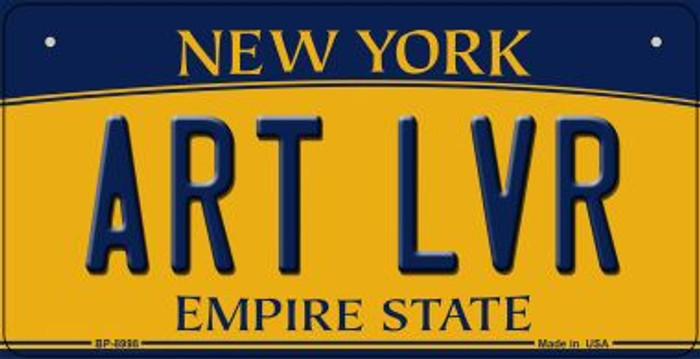 Art LVR New York Novelty Metal Bicycle Plate BP-8998