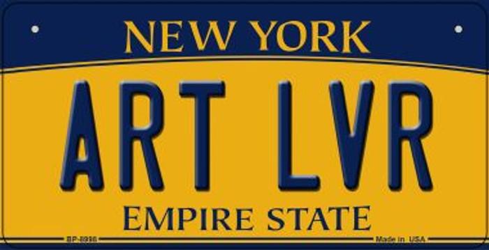 Art LVR New York Novelty Metal Bicycle Plate BP-8998