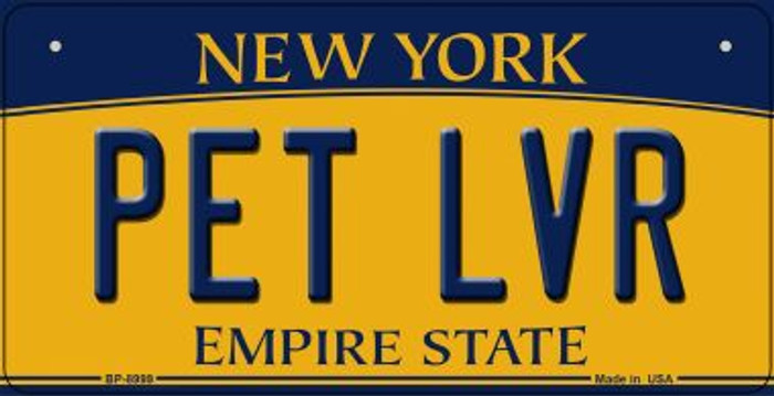 Pet LVR New York Novelty Metal Bicycle Plate BP-8999