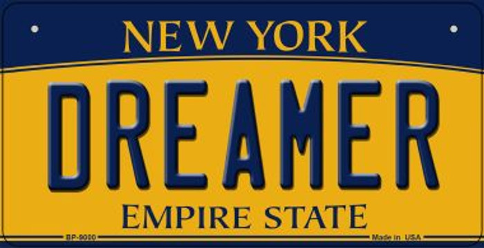 Dreamer New York Novelty Metal Bicycle Plate BP-9000