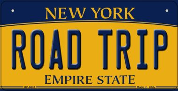 Road Trip New York Novelty Metal Bicycle Plate BP-9001