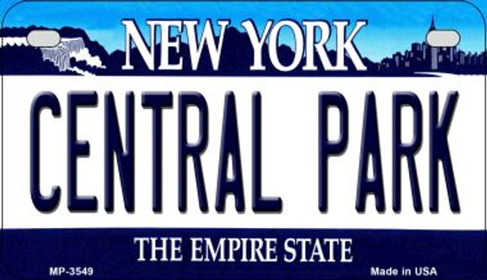 Central Park New York Novelty Metal Motorcycle Plate MP-3549