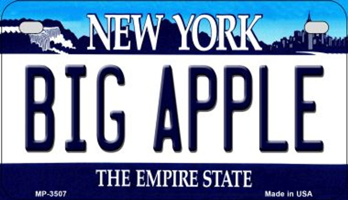 Big Apple New York Novelty Metal Motorcycle Plate MP-3507