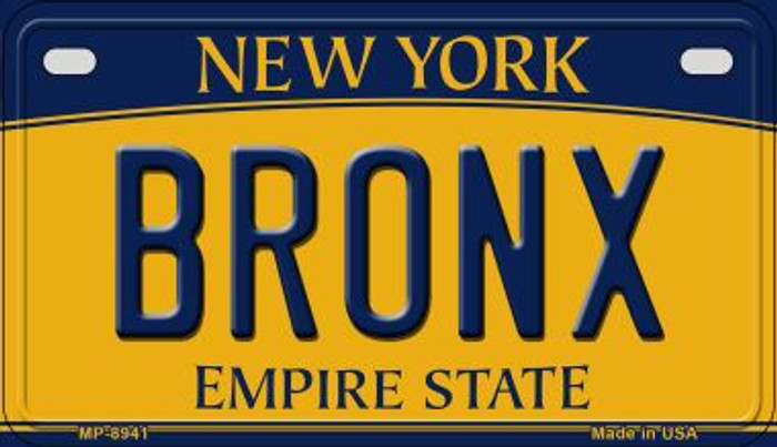 Bronx New York Novelty Metal Motorcycle Plate MP-8941
