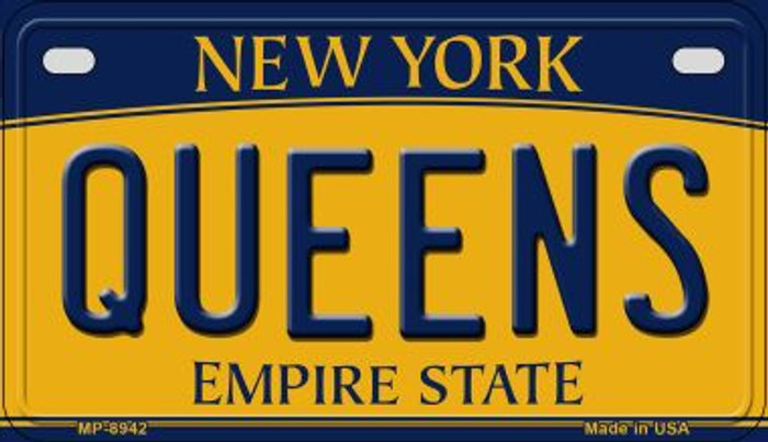 Queens New York Novelty Metal Motorcycle Plate MP-8942