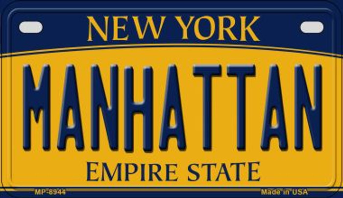Manhattan New York Novelty Metal Motorcycle Plate MP-8944
