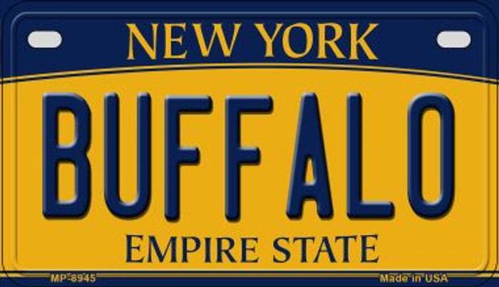Buffalo New York Novelty Metal Motorcycle Plate MP-8945