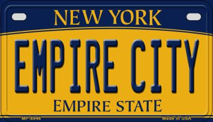 Empire City New York Novelty Metal Motorcycle Plate MP-8946