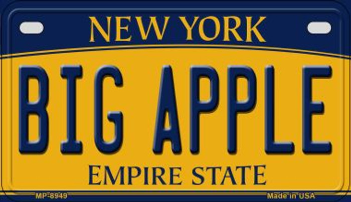 Big Apple New York Novelty Metal Motorcycle Plate MP-8949