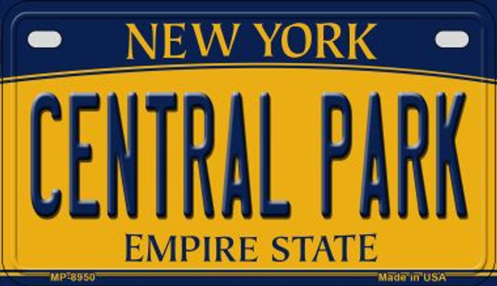 Central Park New York Novelty Metal Motorcycle Plate MP-8950