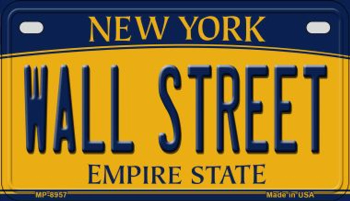 Wall Street New York Novelty Metal Motorcycle Plate MP-8957