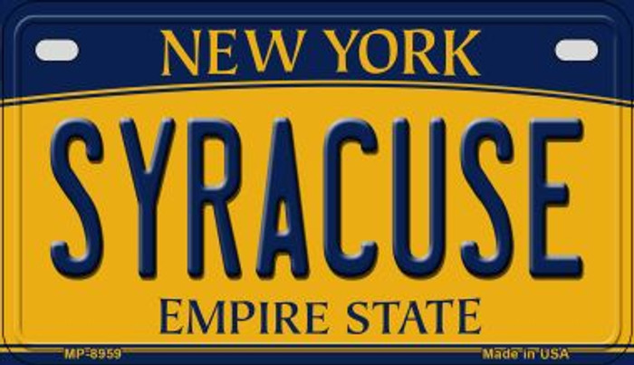 Syracuse New York Novelty Metal Motorcycle Plate MP-8959