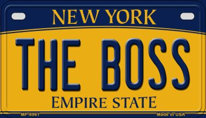 The Boss New York Novelty Metal Motorcycle Plate MP-8961