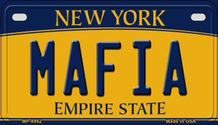 Mafia New York Novelty Metal Motorcycle Plate MP-8962