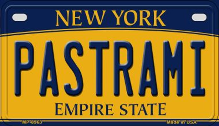 Pastrami New York Novelty Metal Motorcycle Plate MP-8963
