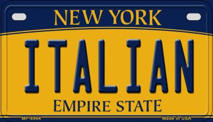 Italian New York Novelty Metal Motorcycle Plate MP-8964