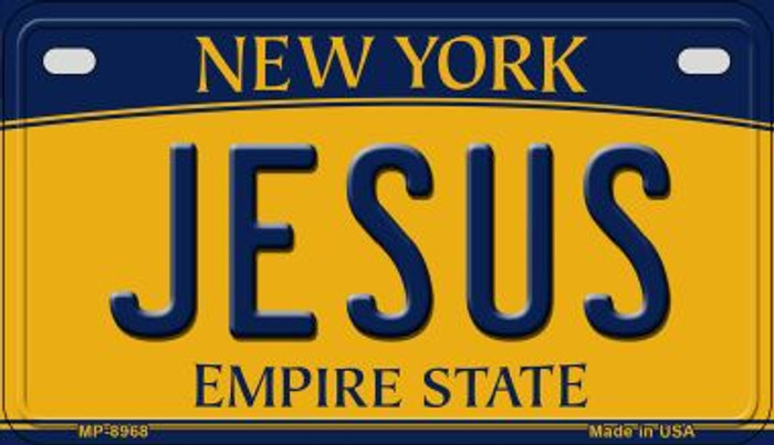 Jesus New York Novelty Metal Motorcycle Plate MP-8968