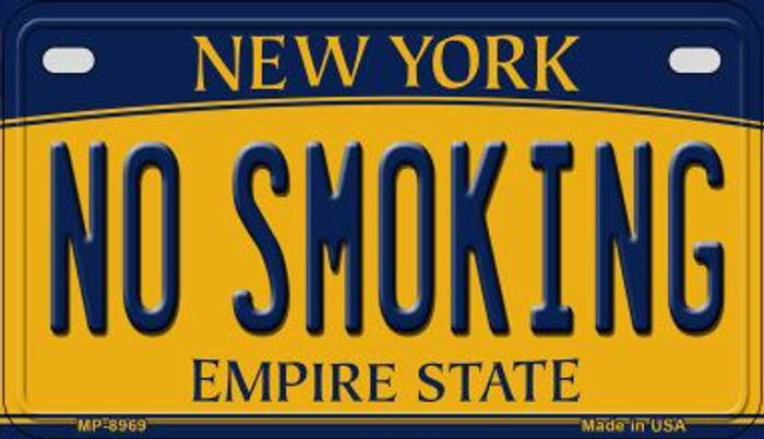 No Smoking New York Novelty Metal Motorcycle Plate MP-8969