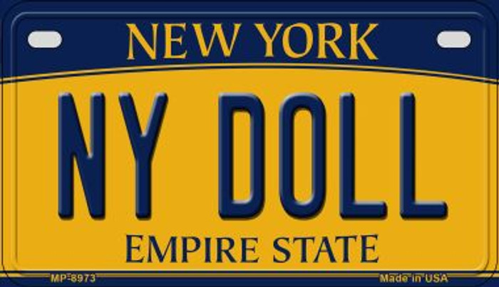 NY Doll New York Novelty Metal Motorcycle Plate MP-8973