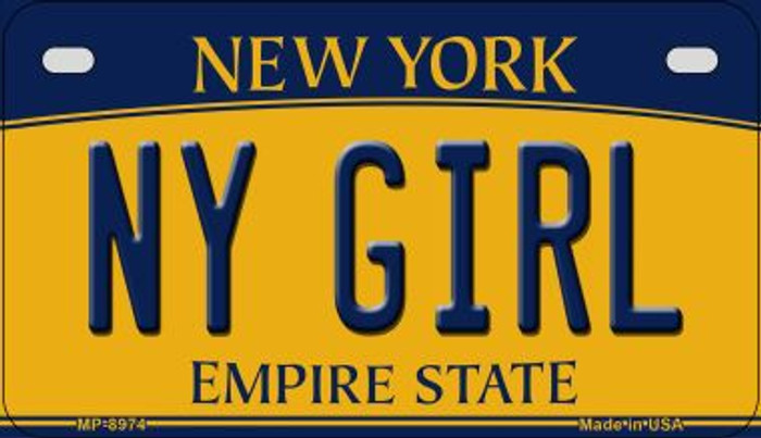 NY Girl New York Novelty Metal Motorcycle Plate MP-8974