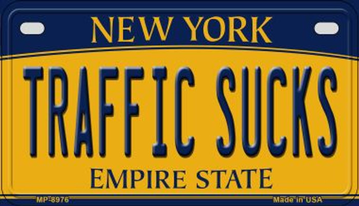 Traffic Sucks New York Novelty Metal Motorcycle Plate MP-8976