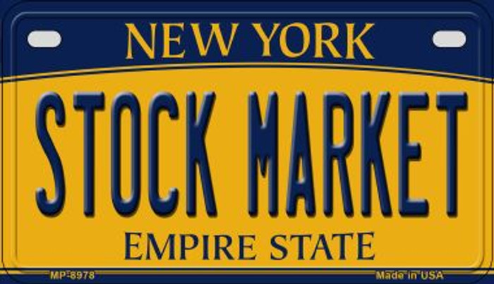 Stock Market New York Novelty Metal Motorcycle Plate MP-8978