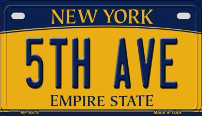 5th Ave New York Novelty Metal Motorcycle Plate MP-8979