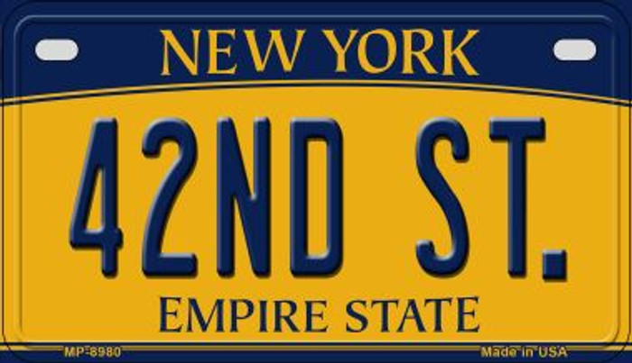 42nd St New York Novelty Metal Motorcycle Plate MP-8980